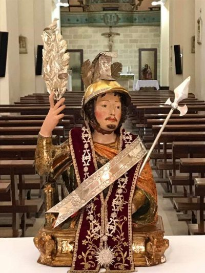 statuine sacre san maurizio busto